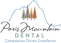 The Paris Mountain Dental logo.